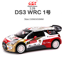 1:26 Alloy Citroen Racing,Model Metal cars,Musical Pull Back car,DS3 WRC France Racing,free shipping