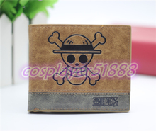 Japan anime ONE PIECE wallet cosplay billfold men&women students personality short cartoon fashion purse cool gift