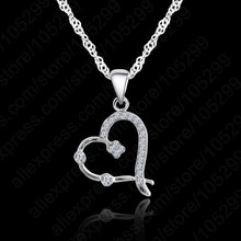 JEXXI Austrian Crystal Necklace For Women Jewelry 925 Sterling Silver Necklace Fashion Necklaces Pendants Chain Necklace(China)