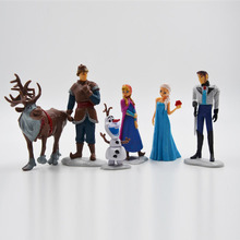 Hot Sale 6pcs/lot Disney Kid Toy Frozen Elsa Anna Prince PVC Action Figure Toy High Quality Toys Best Gift For Kid