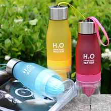650ml H2O Lemon Juice Fruit Water Bottle Infuser Drinkware For Outdoor Portable Shaker Sports Bottle Plastic Water BottleS