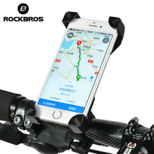 ROCKBROS Universal Bike Phone Stand PVC Bicycle Handlebar Mount Holder For iPhone Samsung HTC Sony Cellphone Cycling Accessories(China)