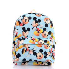 Women Canvas Backpacks Cute Cartoon Mickey Character Children Kids Book School Bags For Teenagers Girls Laptop Bags Preppy Mouse