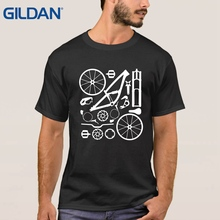Customize black ali t shirts Downhill Freeride Mountain Cyclists Parts O Neck 4XL tee men's Solid color jersey(China)