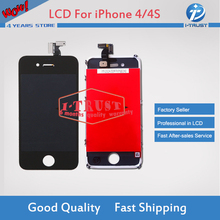 20 pcs lot Glass Touch Screen Digitizer & LCD Assembly Replacement For iPhone 4 4G 4S & Free DHL