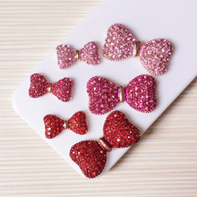 10 sets/lot Min.$15 (Mixed Order) Cell Phone Case DIY Charms Alloy Crystal Bowknot Decoration(China)