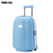 TRAVEL TALE 17 inch kids carry on suitcase hard side small koffer luggage for children(China)
