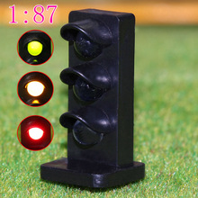 1:87 HO scale 5PCS railway modeling Flashing LEDs made Dwarf Signals for Railway signal 3 Aspects Model Traffic Lights flash