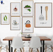 simple Nordic style Abstract picture Hand Made Cooking Wonder Machine Pictures Kitchen Restaurant Wall Home Decor Painting(China)