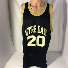 Vintage 90s Champion Notre Dame Fighting Irish #20 College Basketball Jersey Embroidery Stitched Custom any Number and name