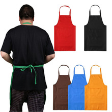 Kitchen Cooker Chefs Apron Pinafore Front Pocket Oilproof Home Craft Baking delantales  tablier cuisine 5 Colors 72*58CM