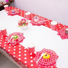 108*180CM Lovely Colors Dots Plastic TableCloths Table Cover Festival Kids Birthday Party Decoration #254199(China)