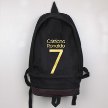 High Quality New Fashion 6 Color Ronaldo Soccer Football Backpack Boy Girl School Bag Computer Canvas Backpacks