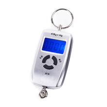 New 45kg 5g Pocket LCD Electronic Hanging Hook Fish Scale Double Precision Digital Kitchen Food Scales Weight Balance(China)