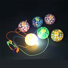 Luminous Toys/Belt Duck Luminous Crystal Elastic Ball Flash/colorful light/baby toys for children/toy/best gift(China)