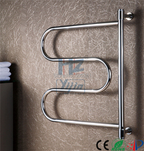 swing and folding bathroom towel rack electric heated towel rail stainless steel towel rail dryers for towels HZ-904(China)