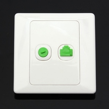New Arrival Best Price Electric RJ45 Network + TV Aerial Socket Wall Mount Coaxial Outlet Plate Panel Super Quality