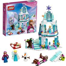 316pcs Dream Princess Elsa's Ice Castle Princess Anna Olaf Set Model Building Blocks Gifts Toys Compatible lepin Friends(China)