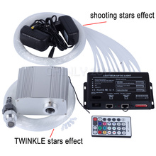 10W RGBW 28key RF remote TWINKLE LED Fiber Optic Star Ceiling Light Kit 200pcs*0.75mm*2m +2pcs shooting stars effect