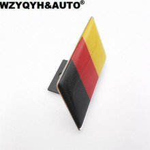 High Quality Germany Flag Car Front Grill Emblem Sticker Styling Grille Badge for VW Tiguan Golf Jetta polo audi a3 a4 a6 q3 q5(China)