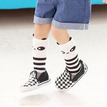 1 Pair Fashion Lovely Anti-Slip Newborn Kids Cute Baby Socks Animal Boy Girl School Children Knee High Cotton Socks(China)