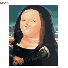 Carton Mona Lisa High Quality Oil Painting Wall Art Hand Painted Oil Painting On Canvas Home Decoration Unique Gift DIY291(China)