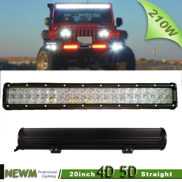 20 4D 5D Lens 210W LED Car Work Light Bar 42x5w Led bar Combo Beam 4x4 Truck ATV RZR Trailer Roof Offroad Driving headlight<br><br>Aliexpress