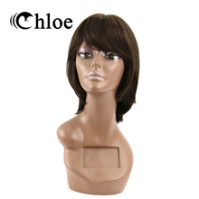 Chloe Brazilian Remy Hair Straight Lace Frontal Wigs Density 130% 100% Human Hair Wigs Style FT-1185(China)