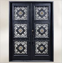 Custom design forged  wrought Iron front  doors iron doors iron entry doors h-wid9