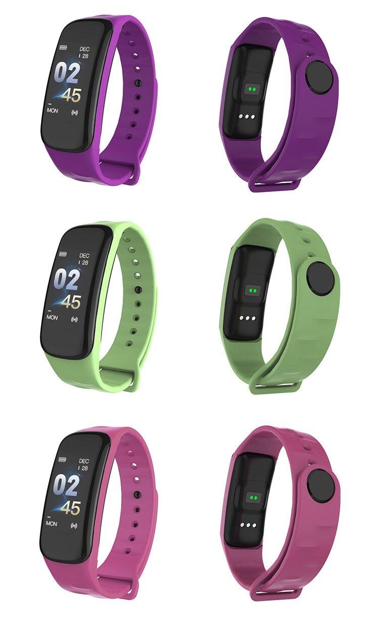 Original C1Plus Smart Bracelet Color Screen Blood Pressure Waterproof Fitness Tracker Heart Rate Monitor pk fitbits miband 3 18