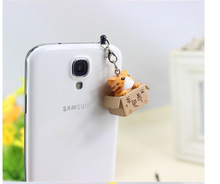 Seeking nurturing cat style 3.5mm Cute Cartoon Cat Design Mobile Phone Ear Cap Dust Plug For Iphone Samsung dust plug(China)