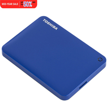 "Toshiba HDD 2TB Canvio Connect USB 3.0 2.5"" Inch Portable External Hard Disk Drive Mobile Desktop Laptop Encryption HDTC820YK3CA"