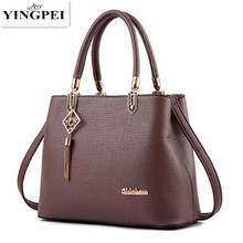 2017 Women handbags Ladies Leather Commuter Office Ring tote bag Women's Pouch Bolsas Famous Ladys Flap bag High Quality Black