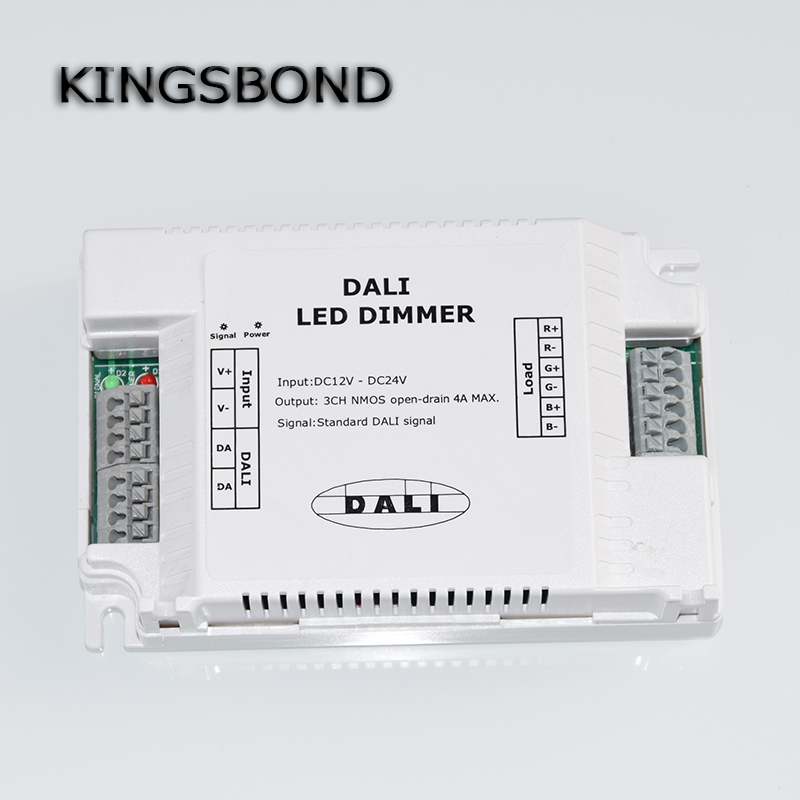 DALI  Led Dimmer 3CH NMOS 350mA fluorescent Constant Current, high-voltage AC110-240 led Dali dimming controller<br>