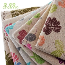 Zakka Cotton Linen Fabric For Hometextile Sewing/Floral Pattern Cloth For Sofa/Curtain/Bag/Cushion/Furniture Cover/Half Meter
