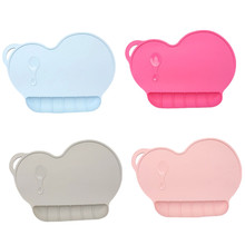 Baby Kids Portable Silicone Tableware Dining Pad Food Mat Kitchen Placemat Table Decoration Accessories
