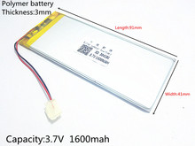 free shi XWD 304191P 3.7V KEBE PL304191 304192 PL304190 1600MAH LI- ION POLYMER battery for china clone S6 S9600 MTK phone