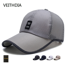 VEITHDIA spring and summer stretch with long eaves net hat men fishing baseball cap sunscreen hat