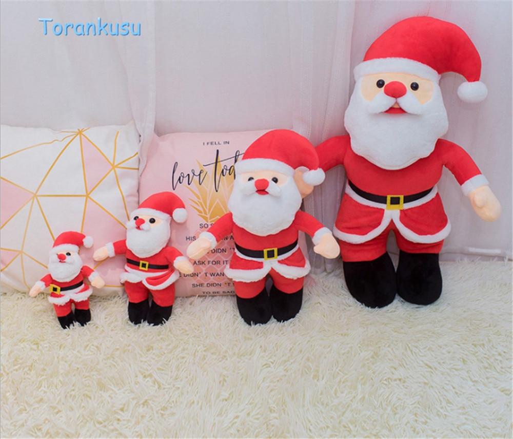 christmas santa claus dolls kawaii stuffed plush toys for christmas decoration gift for kids xmas ornaments snowman doll