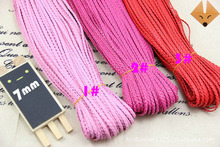 Hot Multi Color 5mm Flat PU Leather Cord Braided 10yards/pcs 5pcs/lot Polyester Braided Cord DIY Cords Jewelry Findings ds423(China)