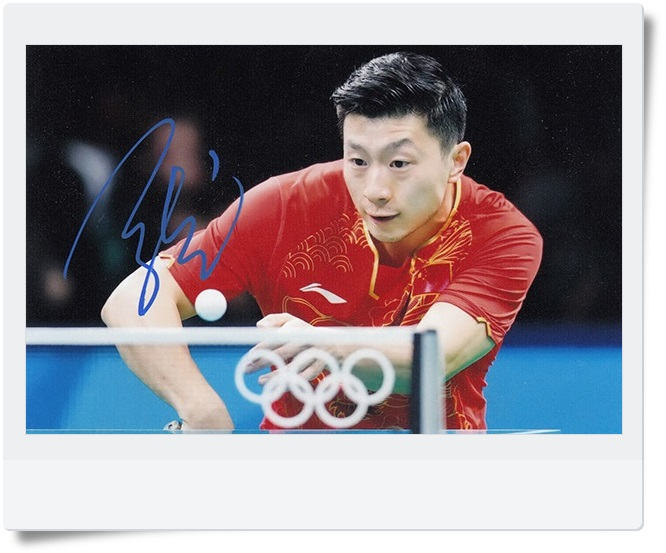 signed Ma Long Chinese Beast autographed  original photo 6 inches freeshipping 2 versions 062017 <br>