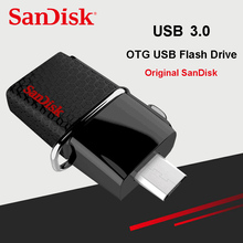 SanDisk Ultra Dual OTG USB Flash Drive 32gb 150M/S USB 3.0 Pen Drives PenDrives support 0fficial Verification USB Stick(China)