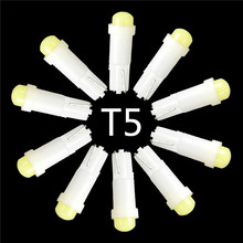 10pcs/lot T5 0.2W 1 SMD Led Ceramic Car Auto Side Wedge Gauge Dashboard Instrument Lights Lamp Bulb DC12V