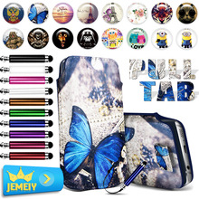 Pull Tab Phone Leather Pouch For Samsung Galaxy Win i8552/Galaxy S Advance i9070 Universal Phone Bag Printed Case Small Size