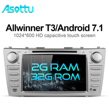 Asotto ZKMR8060 2G+32G android 7.1 car dvd navigation car dvd for Toyota camry 2008 2009 2010 2011 car stereo multimedia player(China)