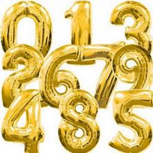 40 inch Gold Silver Number 0-9 Balloon Aluminum Foil Balloons Helium Ballons Birthday Decoration Wedding Party Supplies