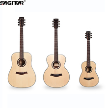 New Hot Sale Wooden guitar full  guitar rounded  super  spruce wood high-quality 34,40,41 inch guitar  bass Electric Box Guitar