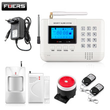 FUERS Q2 LCD Screen 433Mhz Remote Control Wireless GSM sms call PSTN phone line dual network Home Security gsm Alarm System