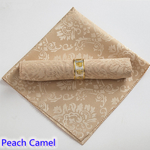Fashion napkin Camel colour jacquard damask pattern napkin for wedding hotel restaurant table decoration wrinkle stain resistant