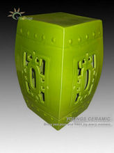 China antique ceramic green garden stool for indoor and outdoor decor